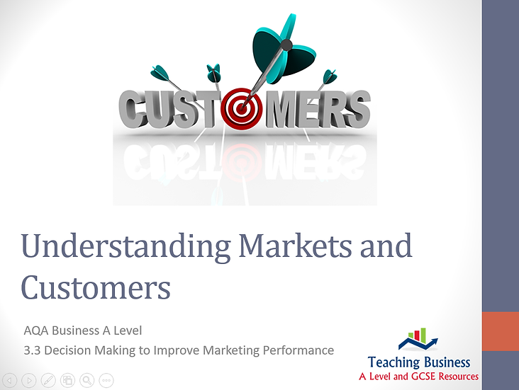 AQA Business -Understanding Markets and Customers