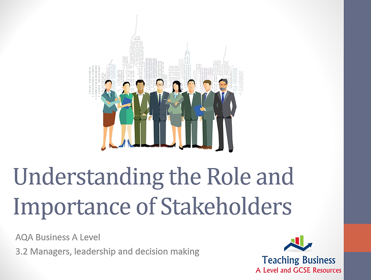 AQA Business -Understanding the Role and Importance of Stakeholders