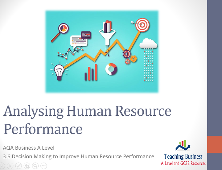 AQA Business - Analysing Human Resource Performance