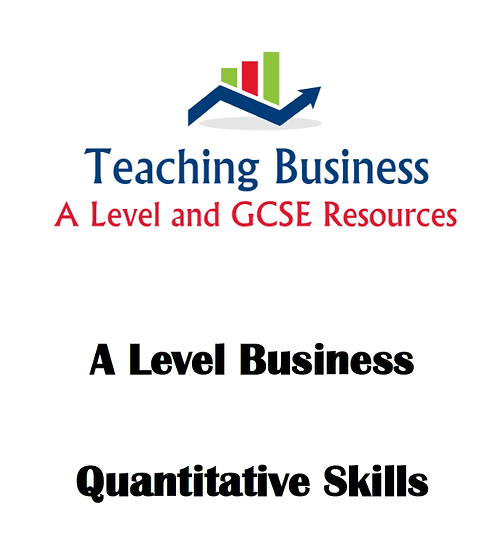 A Level Business Maths & Notes Workbook