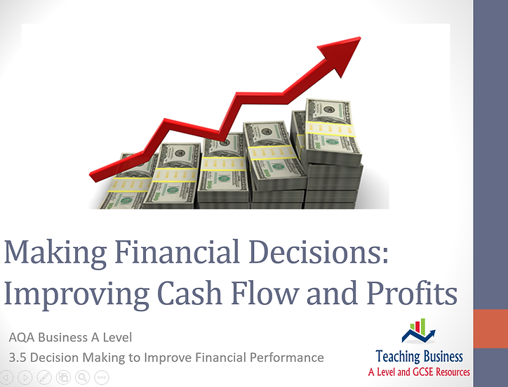 AQA Business - Improving Cash Flow and Profits