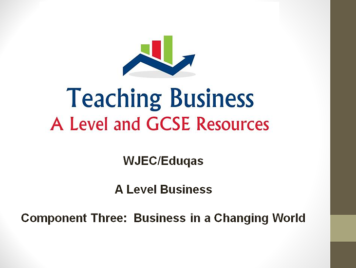 Eduqas Component Three: Business in a Changing World (PowerPoint Pack)