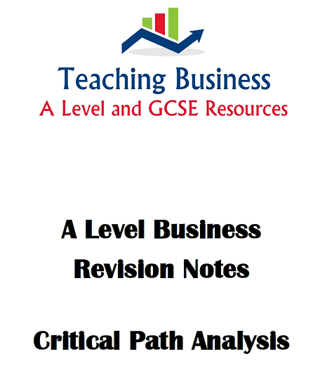 Critical Path Analysis Revision Notes