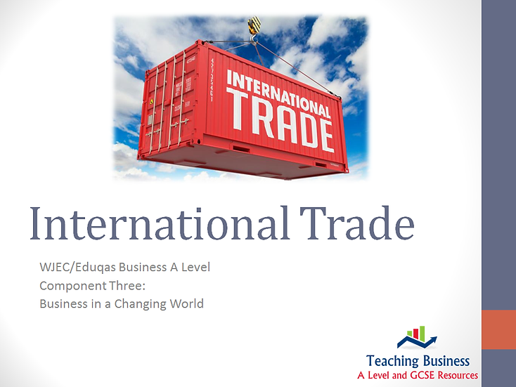 Eduqas PowerPoint International Trade