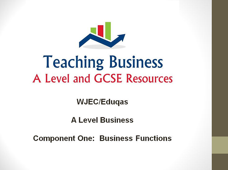 Eduqas Component One: Business Functions (PowerPoint Pack)