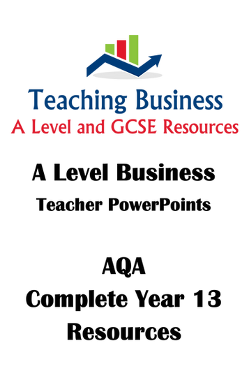 AQA A Level Business - Year 13 Complete Course (Units 7-10)