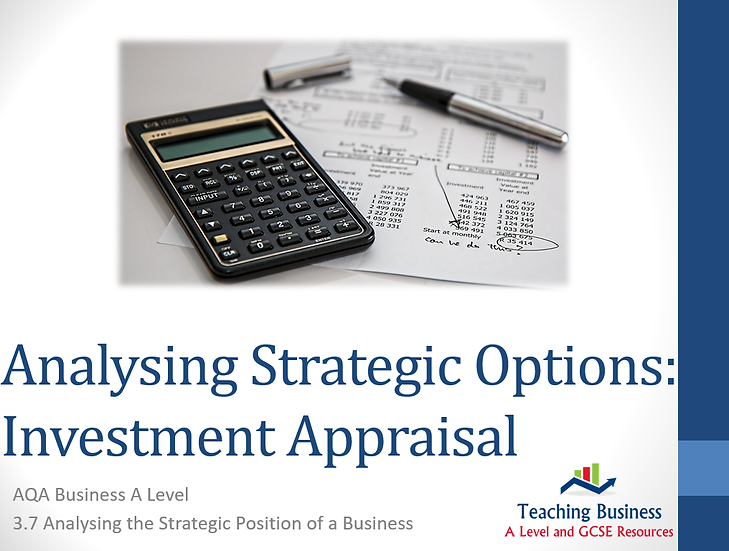 AQA Business - Investment Appraisal