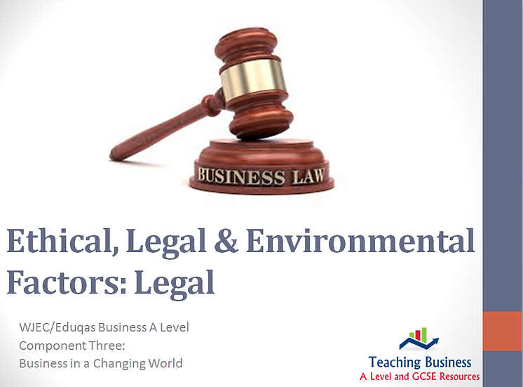 Eduqas PowerPoint Business and Legal Issues