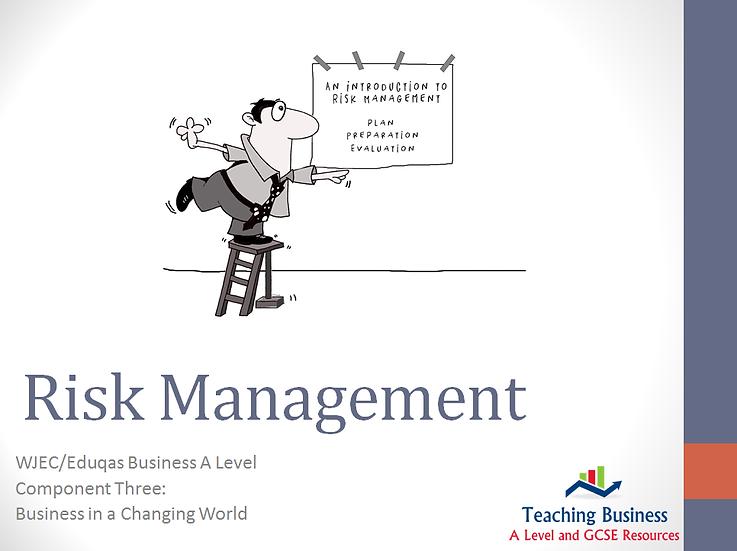 Eduqas PowerPoint Risk Management
