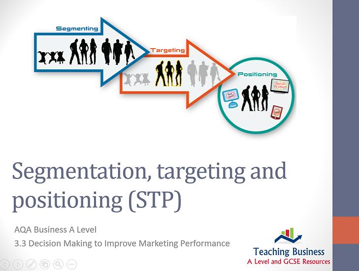 AQA Business - Segmentation, Targeting and Positioning
