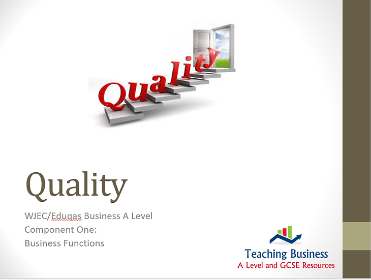 Eduqas PowerPoint - Quality