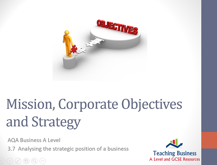 AQA Business - Mission, Corporate Objectives and Strategy