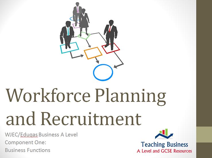 Eduqas PowerPoint Workforce Planning & Recruitment