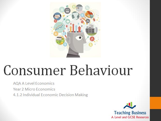 AQA Economics - Consumer Behaviour PowerPoint