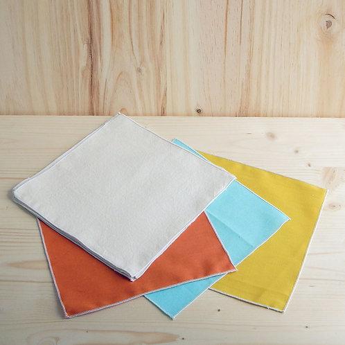 Petit mouchoir en coton bio (1 ou lot de 5)