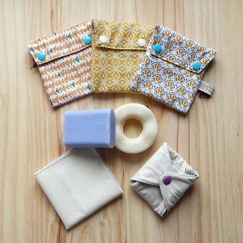 Pochette imperméable Bio multi-usage (biscuits, savon, carré dém., mouchoirs...)