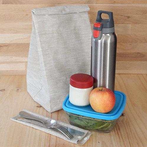 Lunch bag, sac à goûter imperméable (avec ou sans anses)