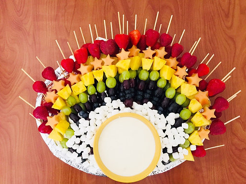 Rainbow Fruit Kabob Tray