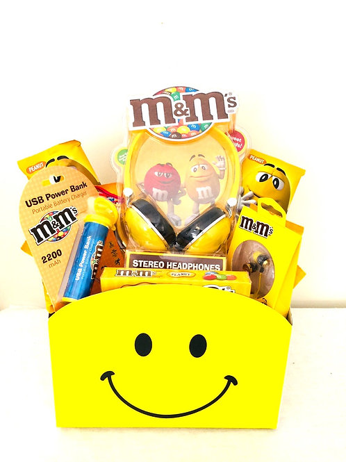 M&M's media Set Gift Basket