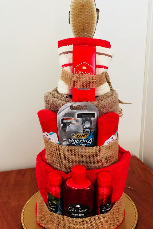 Old Spice Bath Towel Cake