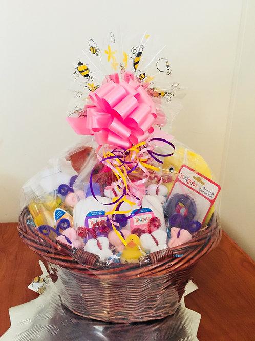 Baby Bath Apron Gift Basket