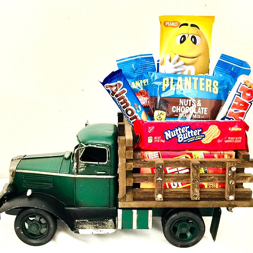 I'm Nuts About You! Green Truck Gift