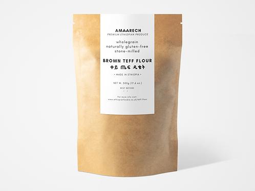 500g Brown Teff Flour | ቀይ ጤፍ ዱቄት