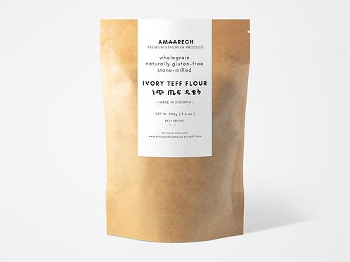 500g Ivory Teff Flour | ነጭ ጤፍ ዱቄት