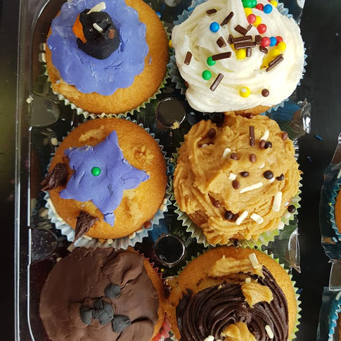 cupcakes done by the kids