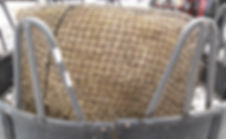 Horse hay net, can be put in roundbale feeder