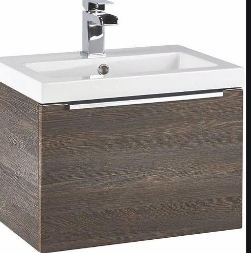 Muro 600 Basin Cabinet Dark Oak