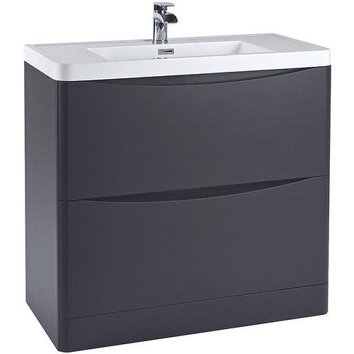 Bella 900 Floor Cabinet With Basin Matt Grey