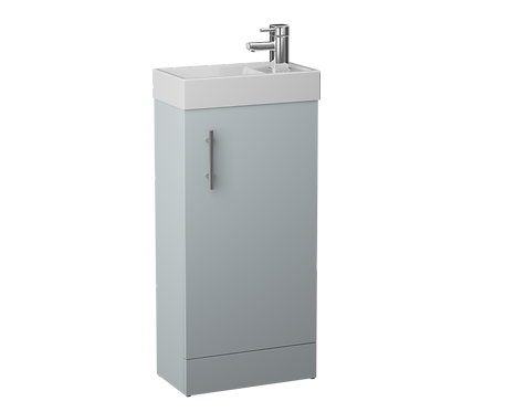 French Grey Single Door 400mm Basin and Cube Unit