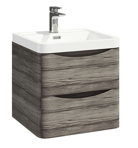 Bella 500 Wall Cabinet With Basin Avola Grey