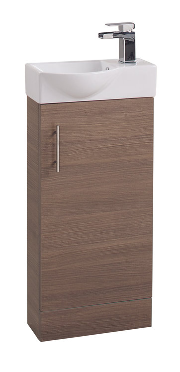 Walnut Single Door 400mm Basin and Unit