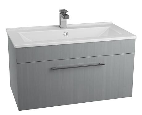 Idon 800 Grey 1 Drawer Basin Unit with Polymarble Basin