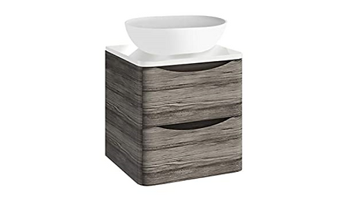 Bella 500 Wall Cabinet With Counter Top Avola Grey