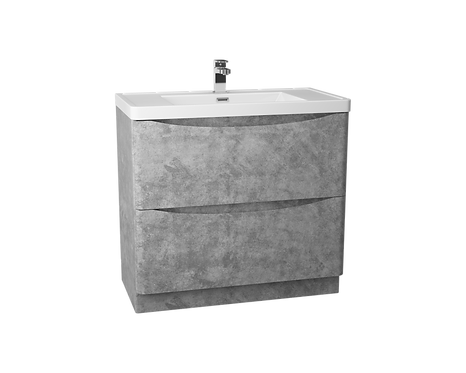 Bali Concrete 900 Floor Standing Cabinet & Polymarble Basin