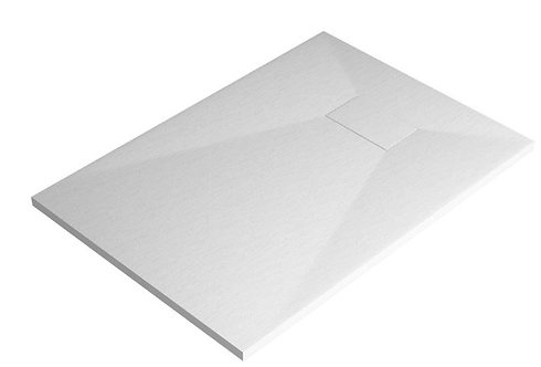 White Rectangular Stone Effect Tray 1000X800
