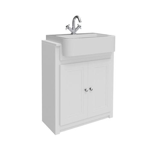 Classica Vanity Unit and Basin Chalk White