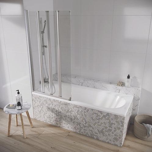 Acqua Arm 6mm 4 Panel 1500x800 mm Bath Screen