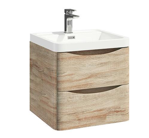 Bella 500 Wall Cabinet With Basin Bardolino Driftwood Oak