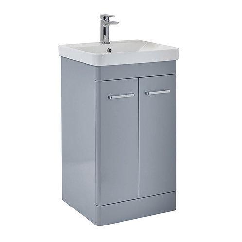 Rossini 600 Floor Standing Vanity Unit With Basin Pebble Grey