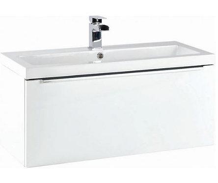 Muro 800 Basin Cabinet Gloss White
