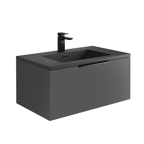 Ambience 800 LED Cabinet With Basin Matt Grey
