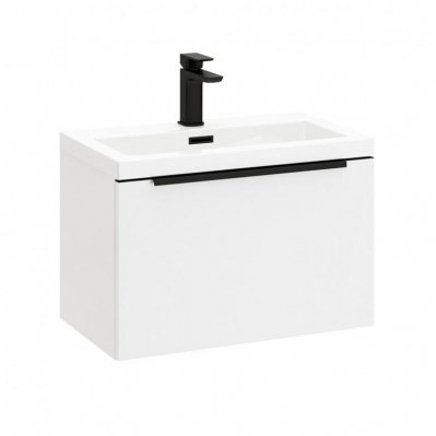 Muro 500 Basin Cabinet With Black Handles
