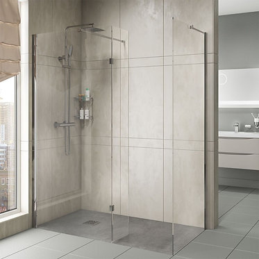 8mm Wet Room Glass Panels with Profiles