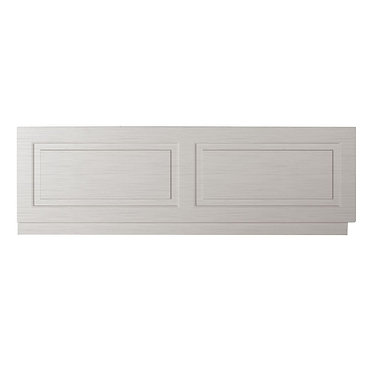 Traditional 1800 Bath Front Panel Porcelain Stone Grey Woodgrain