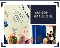 Zhen Lu wins 1st prize the PhD division of 2020 SPE Europe Regional Student Paper (March 2020)