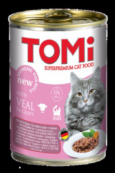 טומי שימור לחתול בטעם עגל 400 גרם